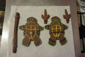Teenage Mutant Gingerbread Turtles II by amortortuga