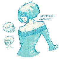 TwoBlueMoons - Sandwich by RedPaints