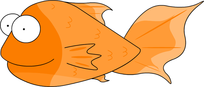 Derpie the goldfish by TheSpecht