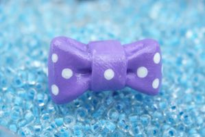 Purple Spotted Bow Ring by Shelby-JoJewelry