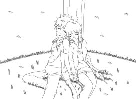 NaruHina Under a Tree by VietBBoyTobi