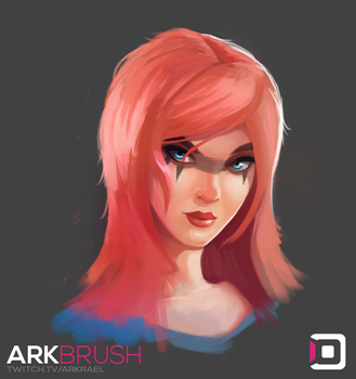 Girl Sketch-15 by ArkBrush