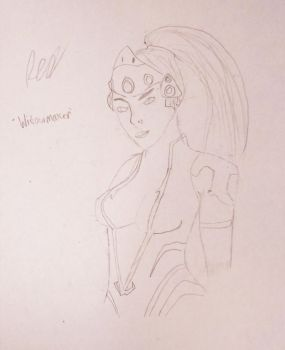 Widowmaker (Simple bust sketch)  by TheiMightyRed