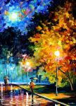 Blue moon by Leonid Afremov by Leonidafremov