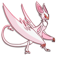 Albino Noivern by GlitchedBat