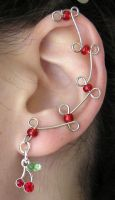 Tiny Cherry Ear Vines by lavadragon