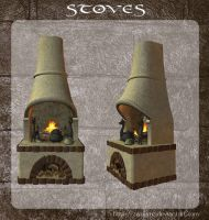 3D Stoves by zememz
