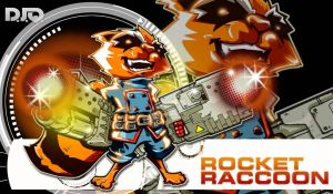 Marvel Comics ROCKET RACCOON by Dve6