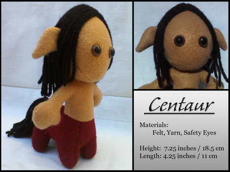 Mini Myths: Centaur in Red and Tan by jlwolff