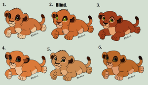 Scar x Nala Cub Adopts -OPEN by MsMonstrosity
