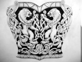 Celtic Lion  tattoo design by Tattoo-Design