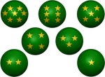Green and Gold Dragonball Z request by KalEl7