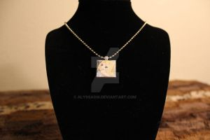 Lucy - Fairy Tail - Scrabble Tile Necklace by AlyssaGM