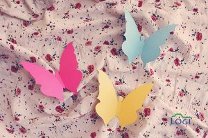 pattern and butterflies by lojein