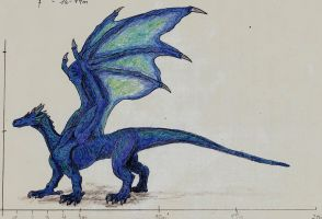 Blue dragon by Saeros2006