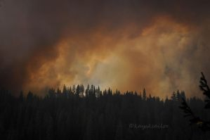 Smoke in the mountains by kayaksailor