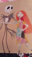 Jack Skellington and Sally  by LouiseArt2016