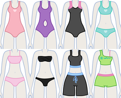 EqG Dress Up - preview (swimsuits) by Liggliluff