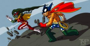 The Mighty Capesman and Titan... by tnperkins