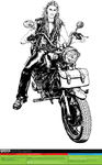 The Racer (BW) [vector source] by OlegLevashov