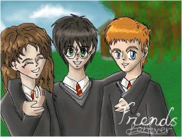 Harry and friends by xcrystalclearx
