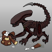 Xenomorph Pup_Adopted by 13OukaMocha13