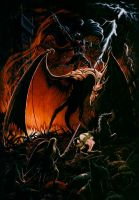 Black Eowyn and The Nazgul by HanyaMimpi