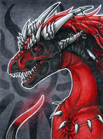 ACEO for Drakontas by Dragarta