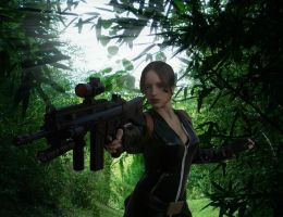 Lara Croft one-handed rifle by Val-Raiseth
