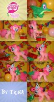 Pinkie Pie and Gummy plushies by SunflowerTiger