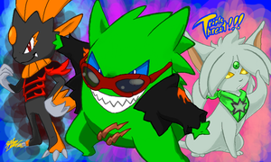 .:Triple the Threat: Pokemon Team by 5courgesbestbuddy