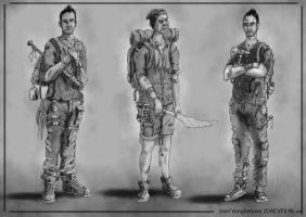 The Walking Dead Survivor Character Design by JoeriVangheluwe