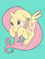 Fluttershyicorn by Pixel-Prism