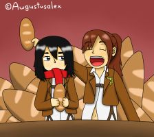 It's Bread, Mikasa! by Augustusalex