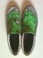 Zombie Shoes by MonteyRoo