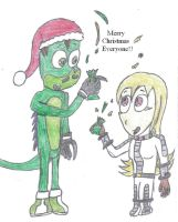 Christmas with Crash and Rhay by Crash-the-Megaraptor