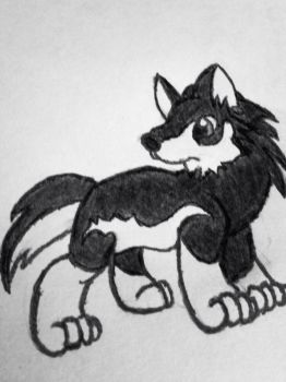 Chibi Wolf Link by TheHappyWarLord