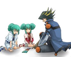 Yusei, ruka and rua by Gazlene