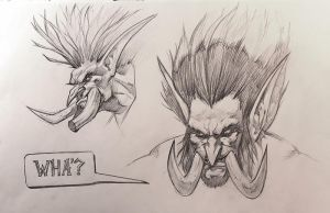 Troll sketches by mikrob
