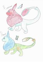 Dujarejae hatchlings E and D by IcyWaterWolf