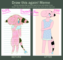 Before and After: Sweetieplum by XDTheSnivy