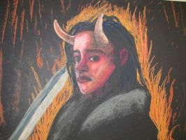 Self Portait of me as demoness by Lupa-Femina