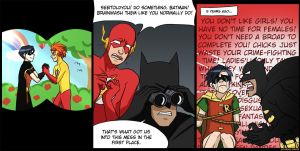 robin 1, batman OVER 9000 by Go-Devil-Dante