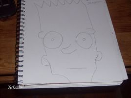 Bart simpson drawing by demonlovers