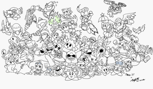 KCCh- Allstar Intro Lineart by GBAKirbster2007