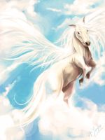 White horse by xuyinyin