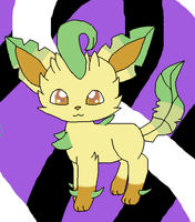 magestic leafeon X3 by usagiemiller