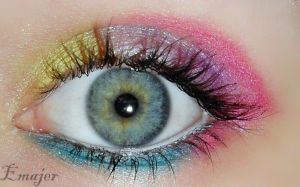Candy eye makeup by Emajer