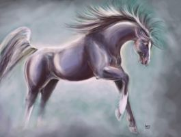 horse painting by arowell
