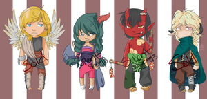 Demon Adopts (1 left) by Silent-Songs